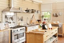 Range hoods and pipes on ceilings walls