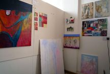 My Art studio / Realistic and affordable ways to create a studio, from a corner of a room to a garden shed. Plus innovative, cheap and even free storage solutions for the artist/creative.