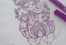 dessin indien