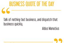 BUSINESS QUOTE OF THE DAY / Inspiring business quotes