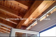 Barnizado de Porches Madera / Ver mas Fotos de barnizado de porches de madera en la web: https://pinturasurbano.wordpress.com/fotos/barnizado-de-porches-madera/