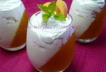Ovocné poháre, puding,nápoje