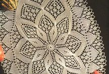 knitted doilies and tableclothes