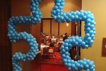 Autism Balloon Ideas / Puzzle Pieces Fundraisers Autism Walks Runs Arches Columns Backdrops Photo Ops Balloon Ideas