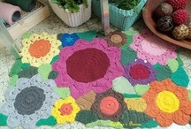 tapis crochet fleurs