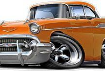 caricaturas coches