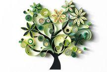Quillingowe drzewka