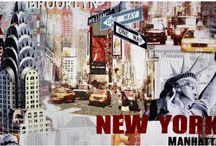 NEW YORK CITY FABRICS / Fabrics featuring scenes from New York City, just like you pictured it!