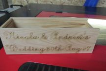 Personalised Wedding engravings / We have personalised Wine ends & boxes for your perfect day.