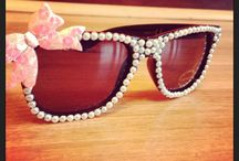 Sparkly Sunglasses / Glam and Girly sunglasses
