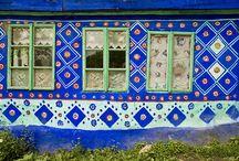Exterior de casa pictat