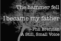 A Still Small Voice - A Phil Brennan Mystery / Phil Brennan is back, looking for a stolen painting and a missing girl. Smack in the center of it is a rivalry between two men. One of them is nothing like Phil's father. http://joeldcanfield.com/my-books/a-still-small-voice/  Nothing at all.