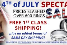 JMR Sales and Promotions / Get your favorite men's ring today! Prices Slashed up to 75% on Over 600 Men's Wedding Bands and Wedding Rings. / by JustMensRings.com