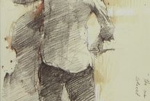 sketches & paintings of musicians