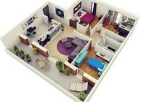 3D cropped floor plan