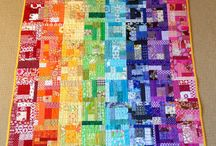 Rainbows / Clever use of rainbow colours in quilts. ROYGBIV.