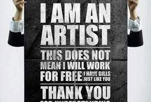 I AM AN ARTIST / by G M