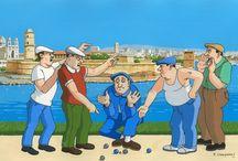 Illustrations Marseille / Traiter avec humour et amour les marseillais