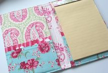 fabric notebook...