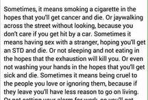 depression, anxiety, cynical.