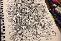 Doodle art and zendoodle