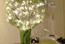 lamparas en vidrio artesanales