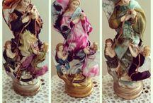 Santas e Santos / imagens customizadas e pintadas.
