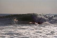 Kneeboarding surfin