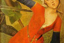1450 1490 demiceint (half girdle)