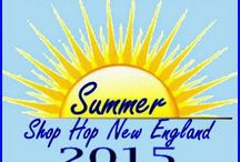 """Summer Shop Hop NE / Join us from June 1 through August 31 on a summer road trip you take at your leisure to visit independently owned papercrafting stores in New England. Pick up your passport at any of the participating stores for a nominal fee and then enjoy a discount at each store PLUS a FREE, exclusive Make and Take. Get your passport stamped from all participating stores, pass in to your """"home"""" store and be entered to win a PRIZE!"""