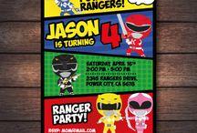 Power Rangers birthday party ideas