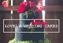 Lovely Wedding Cakes / Simple cakes, elaborate cakes, gourmet cakes, naked cakes, just all kinds of beautiful wedding cakes.