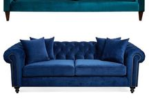 Blue couches