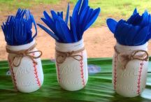 Baseball theme wedding shower