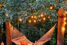 Bohemian Outdoor Spaces / Magical outdoor spaces - where you can curl up and dream...