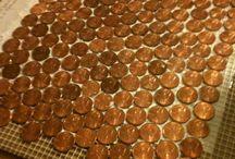 Penny floor/wall tiles