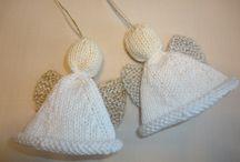 knit xmas angels