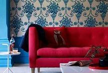 RED + BLUE / Think red and blue is too patriotic? Think again. Pomegranate red and icy blue make a dynamic color combo.  / by Overstock