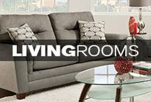 Living Rooms / Whether your style is city chic or country casual, Kane's has everything from coffee tables to recliners to help you complete your living room.  / by Kane's Furniture