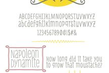 Design / fonts and graphic elements / by Miemonster.