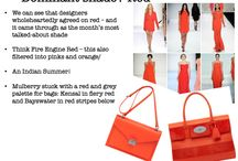 Red / We can see that designers wholeheartedly agreed on red – and it came through as the month's most talked-about shade