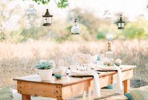 * Wedding soft green outside *