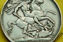 Old England Coins Старая Англия монеты