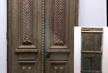 Antique Doors pine Old wood