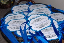 Chair Tags or Signs for Wedding / From Candy Buffets to Signature Signs, Fans and Table Numbers I love a challenge.  These are some finished orders from my Etsy store www.wreathartist.etsy.com