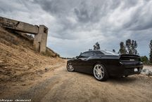 2014 Dodge Challenger Fitted with 22 Inch BD-1's in Silver Polished Face