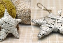 yarn diy decorations / by Ginger Knits