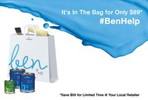 ben® & Me / Now is the time to make all of your DIY projects a reality! Your space matters, and with Benjamin Moore's ben® & Me, you'll gain all the tools necessary to take matters into your own hands. When you buy 2 gallons of ben® interior paint and a quart of ben® interior semi-gloss, you get a painting kit and a ben® & Me tote bag for free! (Available at participating Benjamin Moore retailers; learn more: www.benjaminmoore.com/benandme) / by Benjamin Moore