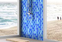 Shower Tile / Tile suitable for pools, jacuzzis, and spas. Indoor or outdoor glass mosaic tile