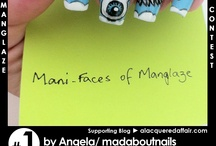 Mani-Faces of ManGlaze Contest Entries / VOTING IS CLOSED! These are the participants of the ManGlaze-inspired contest held by Shoppe EClecticCo and A Lacquered Affair. To vote for your favourite, simply re-pin! 